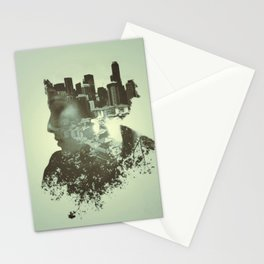 monotone double exposure Stationery Cards