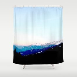 Mountain views abstracted to color blocks Shower Curtain
