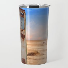 Old Gas Pump in Desert Travel Mug