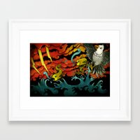sushi Framed Art Prints featuring Sushi by Juan Weiss