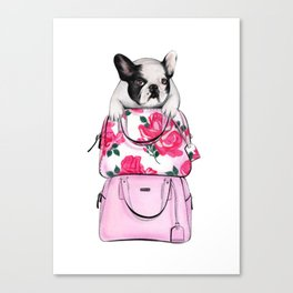 French bulldog art Bulldog print French bulldog print Bulldog art print Fashion sketch bulldog Canvas Print