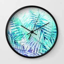 Wild Fern Jungle Wall Clock