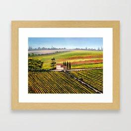 Vineyards In Tuscany Italy Framed Art Print