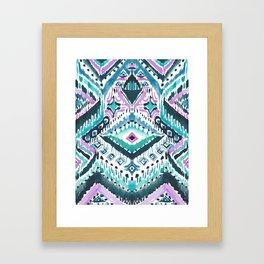 STAY WOKE Blue Tribal Framed Art Print