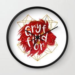 Gryffindor Gold Splatter Wall Clock