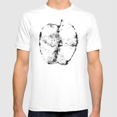 half of an apple MEDIUM Mens Fitted Tee White