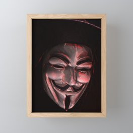 Guy Fawkes Poly Shadow Mask Framed Mini Art Print