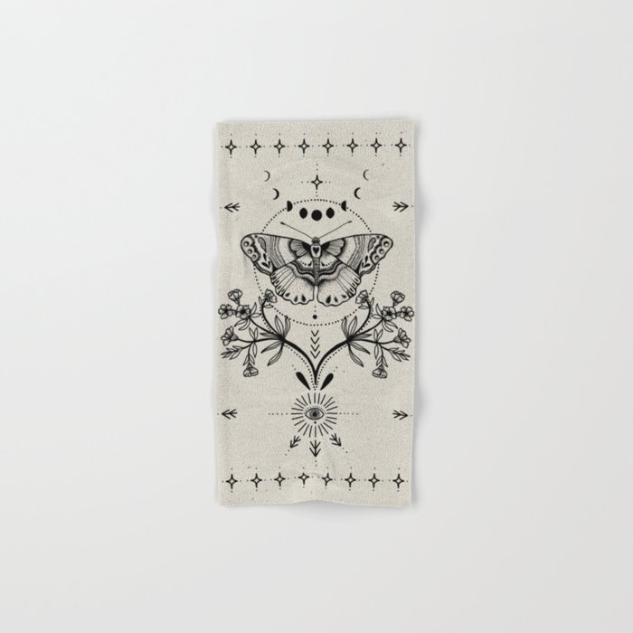 Magical Moth Hand & Bath Towel