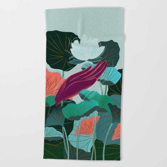 Lotus Magic - 05 Beach Towel
