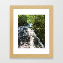 Thundering Brook Falls Framed Art Print