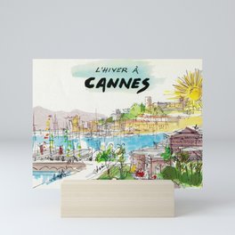 Winter In Cannes Mini Art Print