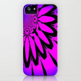 The Modern Flower Fuchsia Purple Ombre iPhone Case