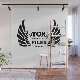 Tox Files - Black on White Wall Mural