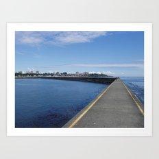 Ogden Point Breakwater, Victoria B.C. Art Print
