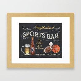 Sports Bar Sign Framed Art Print