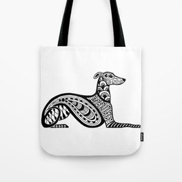 Zentangle Whippet Tote Bag