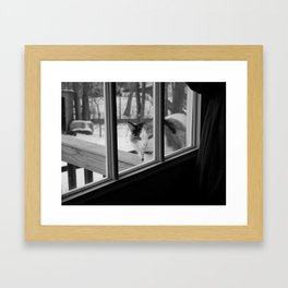 I'd like to come in now... Framed Art Print