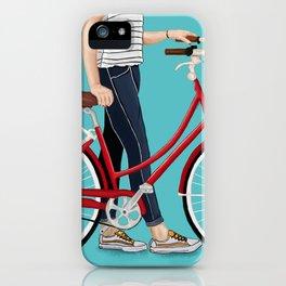 Girl Bike iPhone Case