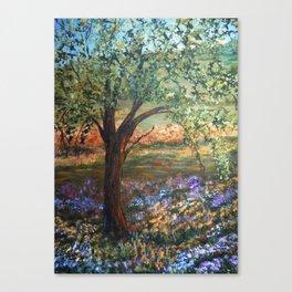 Serene Meadow, Impressionism Landscape Canvas Print