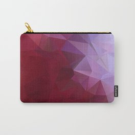 POPPY RED AND LILAC LOWPOLY Carry-All Pouch