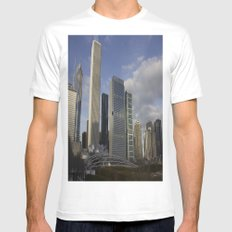 Urban Sky White Mens Fitted Tee MEDIUM