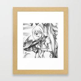 Jinx League of Legends sketch Framed Art Print