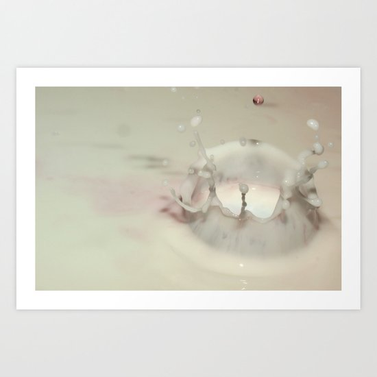 Milk Drop Art Print