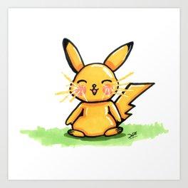 Cute Pika Art Print