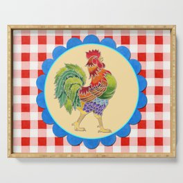 Rise and Shine Rooster Serving Tray