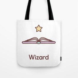 Cute Dungeons and Dragons Wizard class Tote Bag