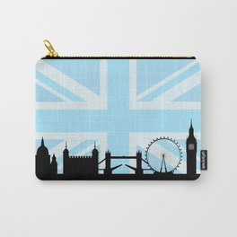 London Sites Skyline and Blue Union Jack/Flag Carry-All Pouch