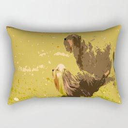 Dog's Running Race Rectangular Pillow