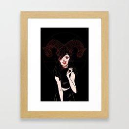 You got two black eyes from loving too hard Framed Art Print