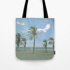 Windy Palms. Vintage summer Tote Bag