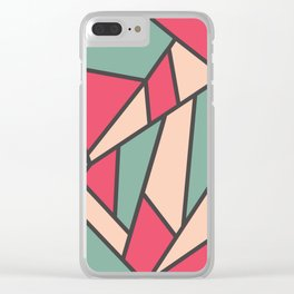 Geometric Colour Pattern V6 Clear iPhone Case