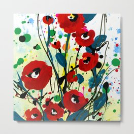 Poppy Dreams 8 by Kathy Morton Stanion Metal Print