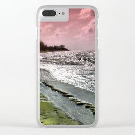 Slippery Beach Wonder Clear iPhone Case