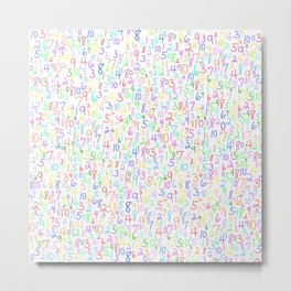 Add It Up 1 (on white) Metal Print