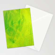 Yellow and Green Stripes Stationery Cards