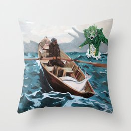 """Winslow Homer's """"Storm Warning"""" Revisted Throw Pillow"""