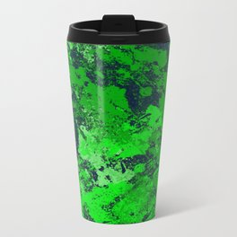 Abstract Earth - Abstract, green and blue textured painting Travel Mug