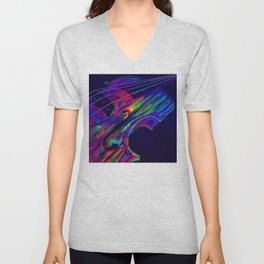 Neon Viola Pride Unisex V-Neck