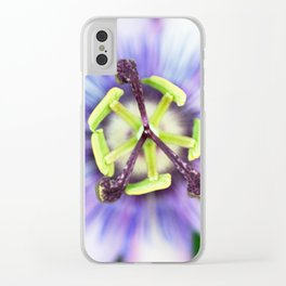 Peace Flower Clear iPhone Case