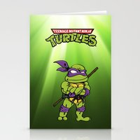 ninja turtle Stationery Cards featuring Ninja Turtle by flydesign