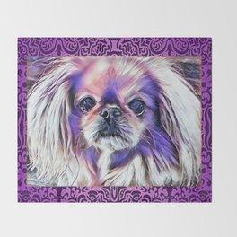 Peak in purple Throw Blanket