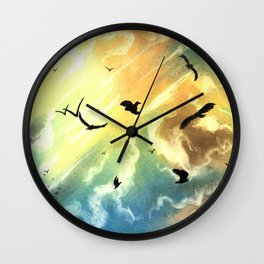 Freedom Of Birds Wall Clock