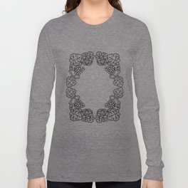 Abstract floral frame Long Sleeve T-shirt