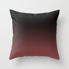 Marsala Ombre Throw Pillow