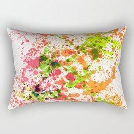 Outlandish Orange - Splatter Style Rectangular Pillow