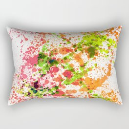 Outlandish Orange - Abstract Splatter Style Rectangular Pillow